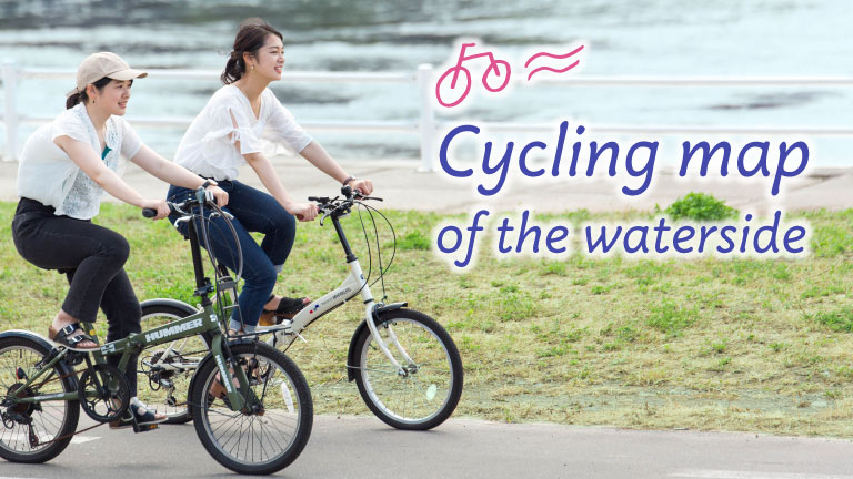 cycling map of the waterside